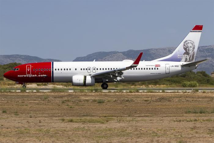 LN-NGI B737-8JP 39020/4343 Norwegian @ Palma de Mallorca Airport 07.2014 © Piti Spotter Club Verona