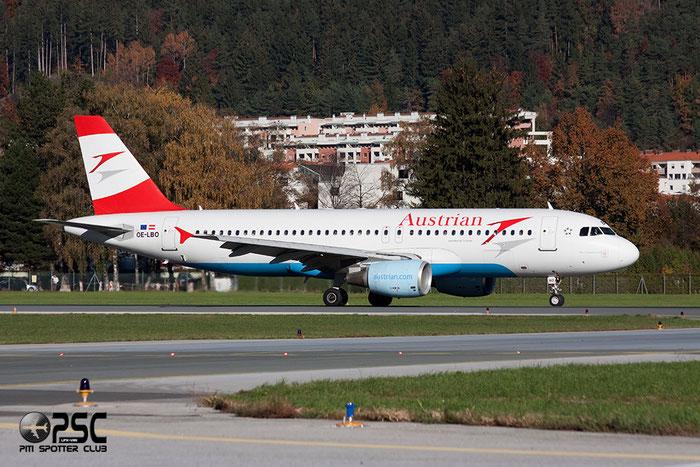 OE-LBO A320-214 776 Austrian Airlines @ Innsbruck Airport 26.10.2013 © Piti Spotter Club Verona