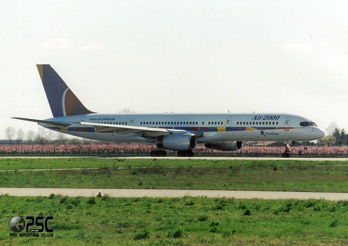 G-OOOB  B757-28A  23822/130  Air 2000  @ Aeroporto di Verona © Piti Spotter Club Verona
