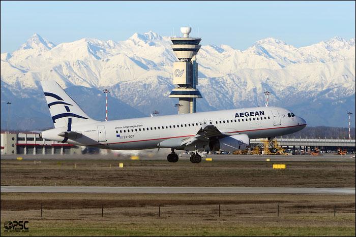 SX-DGK A320-232 3748 Aegean Airlines @ Milano Malpensa Airport 25.01.2013 © Piti Spotter Club Verona