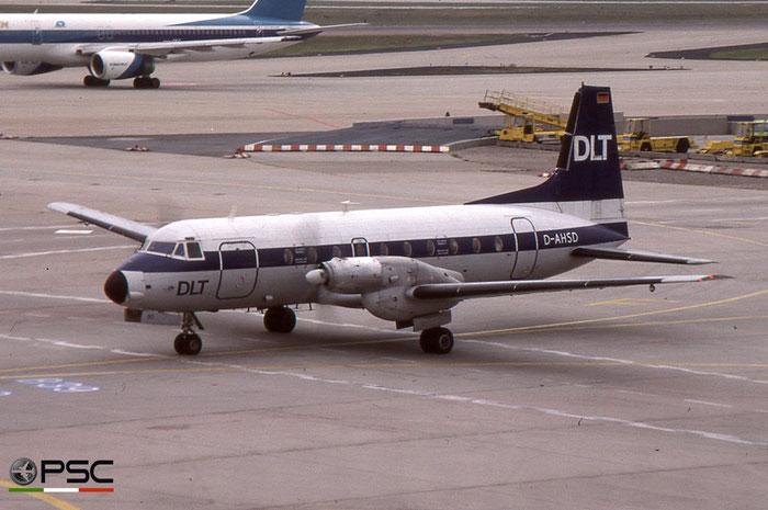 D-AHSD DLT - Deutsche Luftverkehrsgesellchaft Hawker Siddeley HS 748 © 2018 courtesy of Marco Ceschi - Piti Spotter Club Verona