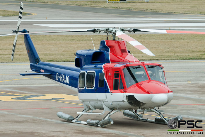 D-HAJO Bell 212 Twin B212 30573 @ Aeroporto di Bolzano © Piti Spotter Club Verona