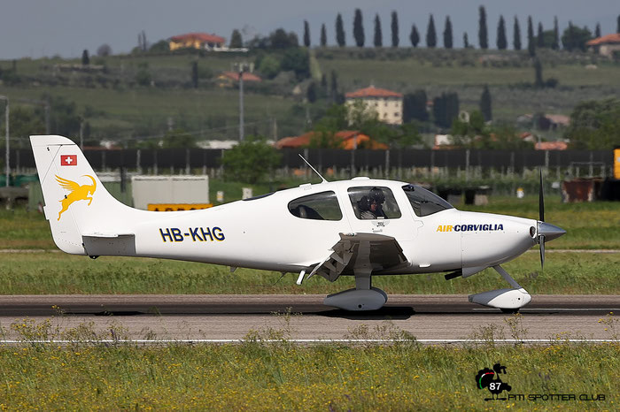 HB-KHG Motorfluggruppe Oberengadin Cirrus SR22, @ Aeroporto di Verona 27.04.2018  © Piti Spotter Club Verona
