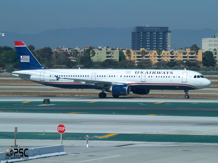 N170US A321-211 1462 US Airways @ Los Angeles Airport 18.10.2013 © Piti Spotter Club Verona