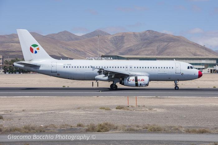 OY-RUS A320-231 447 Danish Air Transport @ Fuerteventura Airport 08.2017 © Piti Spotter Club Verona