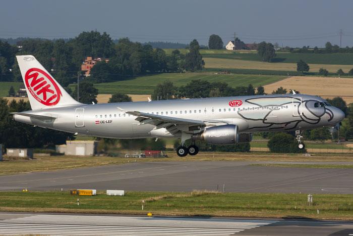 OE-LEF A320-214 4368 Niki @ Zurich Airport 20.07.2013 © Piti Spotter Club Verona