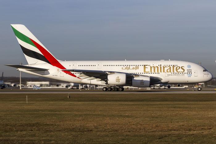 A6-EDQ A380-861 80 Emirates @ Munich Airport 28.12.2015 © Piti Spotter Club Verona