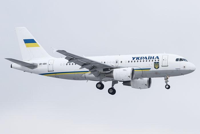 UR-ABA A319-115 (ACJ) 3260 Government of Ukraine @ Zurich Airport 20.01.2016 © Piti Spotter Club Verona
