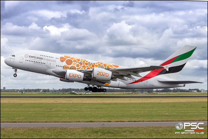 A6-EOA  A380-861  159  Emirates @ Amsterdam 2019 © Piti Spotter Club Verona