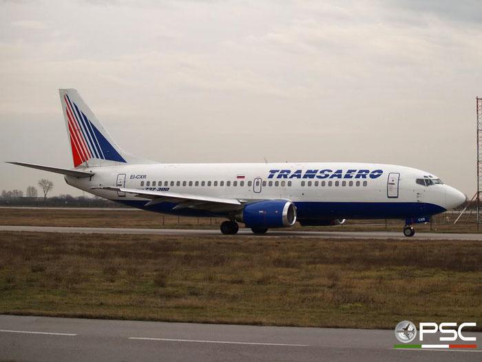 EI-CXR B737-329 24355/1709 Transaero Airlines @ Aeroporto di Verona 12.01.2008  © Piti Spotter Club Verona