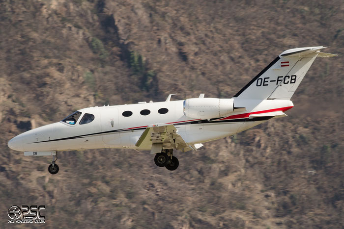OE-FCB Ce510 510-0044 GlobeAir AG @ Aeroporto di Bolzano © Piti Spotter Club Verona