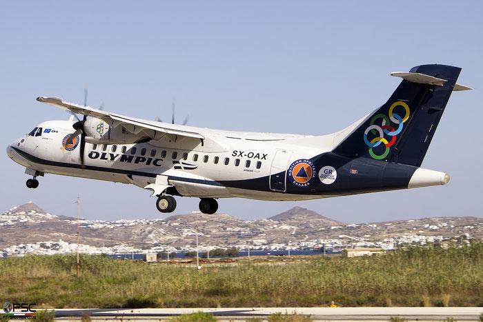 SX-OAX  ATR42-500  1016  Olympic Air @ Milos 2020 © Piti Spotter Club Verona