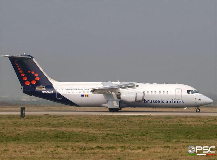 OO-DWF BAe146-RJ100 E3332 Brussels Airlines @ Aeroporto di Verona 24.02.2007  © Piti Spotter Club Verona