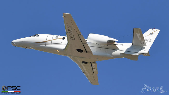 OO-MLG Ce560XL 560-5028 Abelag Aviation @ Aeroporto di Verona 07.07.2018  © Piti Spotter Club Verona