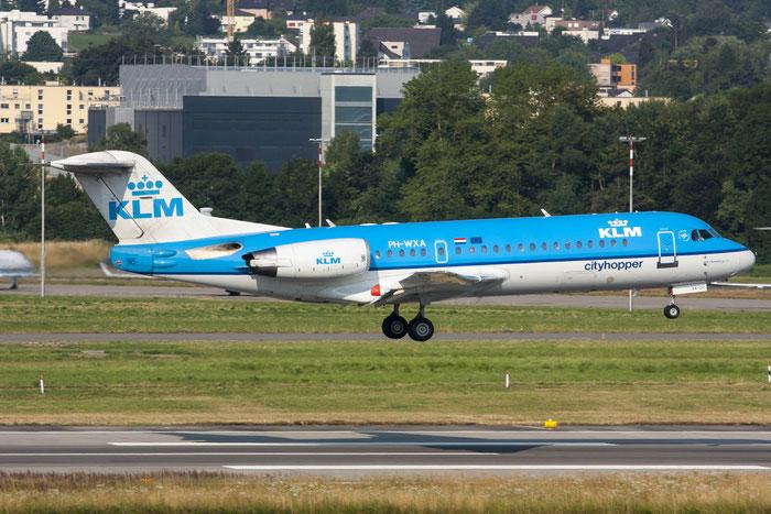 PH-WXA Fokker 70 11570 KLM Cityhopper @ Zurich Airport - 20.07.2013  © Piti Spotter Club Verona