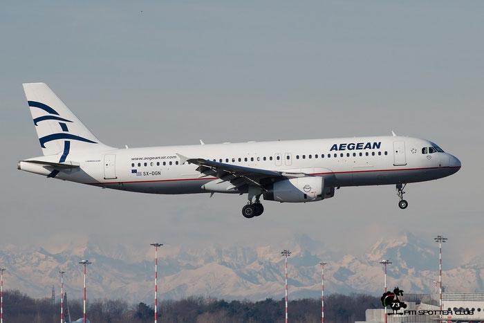 SX-DGN A320-232 2828 Aegean Airlines @ Milano Malpensa Airport 20.02.2016 © Piti Spotter Club Verona
