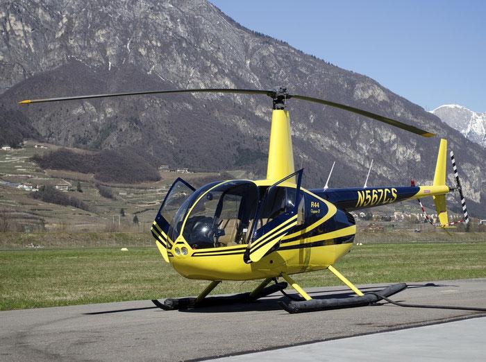 N567CS - Robinson R44 Clipper II - Private @ Aeroporto di Trento © Piti Spotter Club Verona
