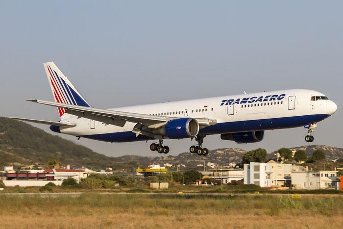 EI-UNB B767-3P6ER 26234/538 Transaero Airlines @ Rhodes Airport 07.2015 © Piti Spotter Club Verona