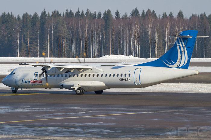 OH-ATK ATR72-212A 848 FinnComm Airlines @ Helsinki Airport 2008 © Piti Spotter Club Verona