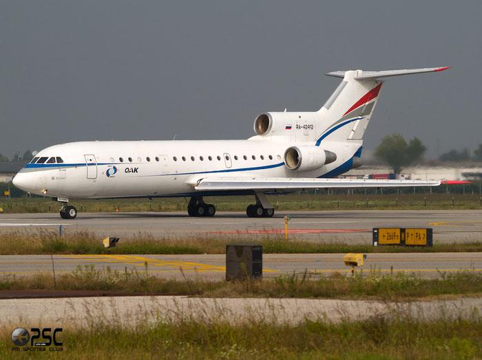 Yak-42D  RA-42412  RusJet 4520422219055 @ Aeroporto di Verona 2013 © Piti Spotter Club Verona