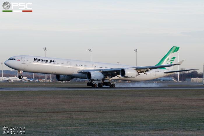 EP-MMI A340-642 416 Mahan Air @ Munich Airport 13.12.2015 © Piti Spotter Club Verona