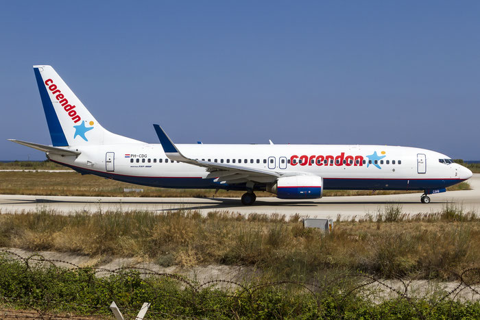 PH-CDG B737-86J 30881/1067 Corendon Dutch Airlines @ Rhodes Airport 05.07.2015  © Piti Spotter Club Verona