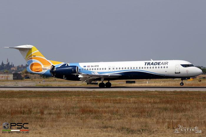 9A-BTD Fokker 100 11407 Trade Air @ Aeroporto di Verona 06.09.2017  © Piti Spotter Club Verona