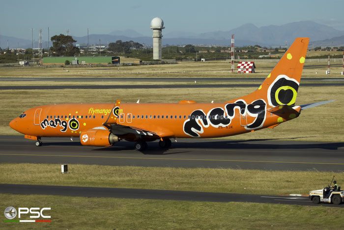 ZS-SJK B737-8BG 32355/807 Mango @ Cape Town International Airport 24.11.2017 © Piti Spotter Club Verona