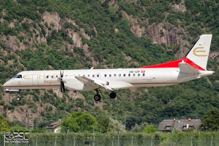 HB-IZP Saab 2000 2000-031 Darwin Airline @ Aeroporto di Bolzano © Piti Spotter Club Verona