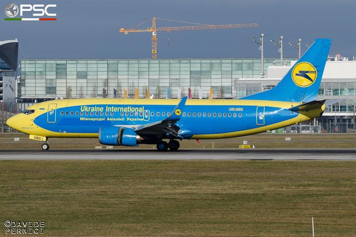 UR-GBD B737-36Q 28659/2880 Ukraine International Airlines @ Munich Airport13.12.2015 © Piti Spotter Club Verona