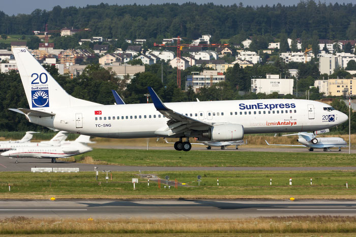 TC-SNG B737-8HC 36530/2622 SunExpress @ Zurich Airport 20.07.2013 © Piti Spotter Club Verona