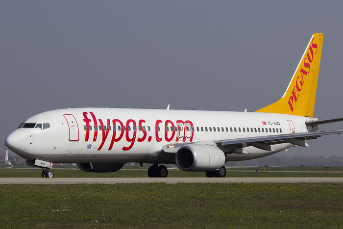 TC-AAO B737-86N 28619/534 Pegasus Airlines @ Bologna Airport 14.04.2014 © Piti Spotter Club Verona
