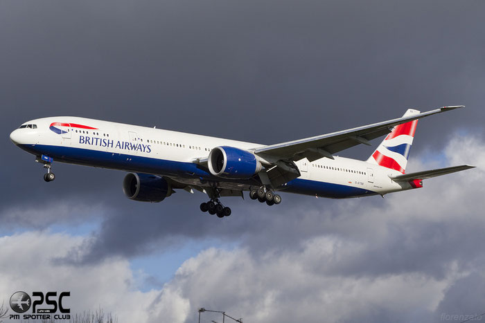 G-STBB B777-36NER 38286/887 British Airways @ London Heathrow Airport 107.02.2014  © Piti Spotter Club Verona