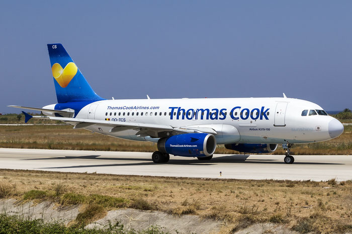 OO-TCS A319-132 2362 Thomas Cook Airlines Belgium @ Rhodes Airport 07.2015 © Piti Spotter Club Verona