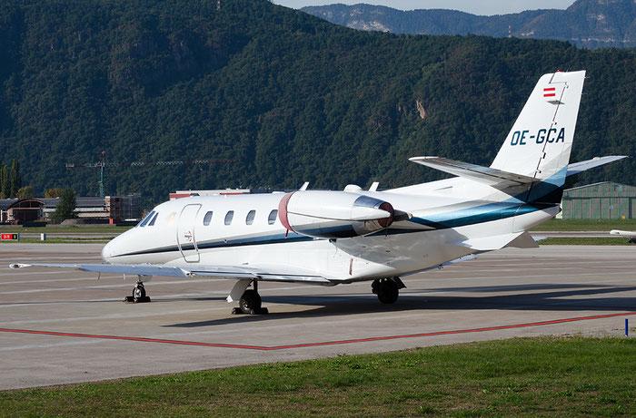 OE-GCA Ce560XL 560-5157 Goldeck-Flug GmbH @ Aeroporto di Bolzano © Piti Spotter Club Verona