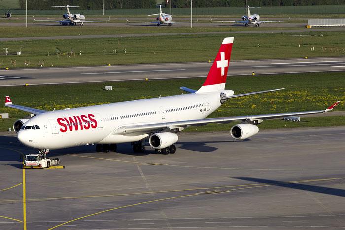 HB-JMB A340-313X 545 Swiss International Air Lines @ Zurich Airport 05.2016 © Piti Spotter Club Verona