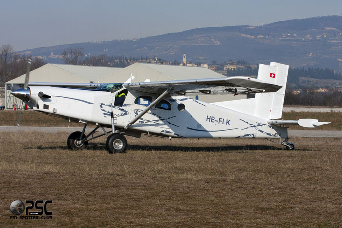 HB-FLK Pilatus PC-6/B2-H4 Turbo-Porter PC6T 779 Skydive Para-Club Grenchen @ Aeroporto Verona Boscomantico © Piti Spotter Club Verona
