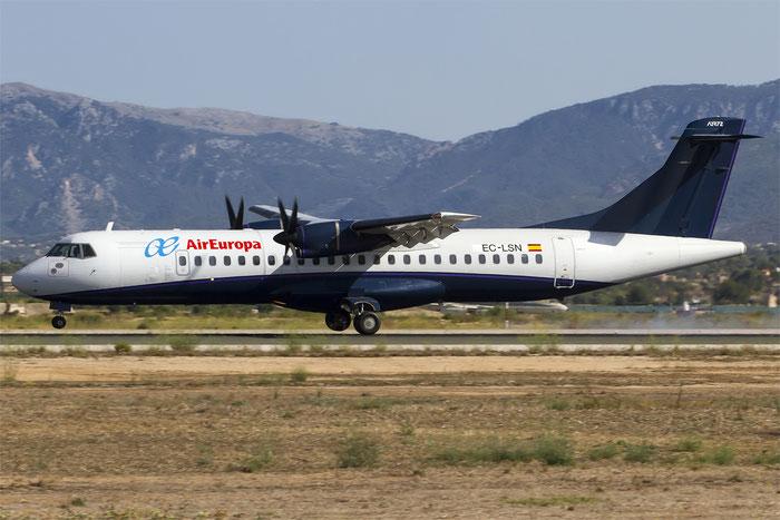 EC-LSN ATR72-202 192 Swiftair @ Palma de Mallorca Airport 07.2014 © Piti Spotter Club Verona