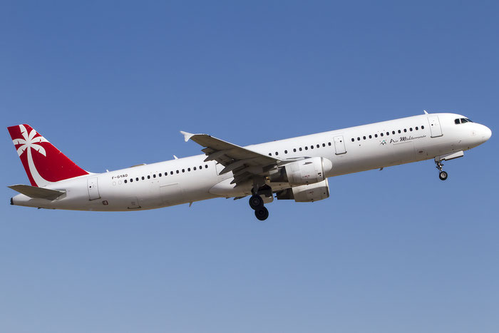 F-GYAQ A321-212 827 Air Méditerranée @ Palma de Mallorca Airport 07.2014 © Piti Spotter Club Verona