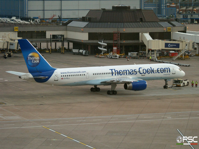 G-FCLJ B757-2Y0 26160/555 Thomas Cook Airlines @ Manchester Airport 20.07.2012 © Piti Spotter Club Verona
