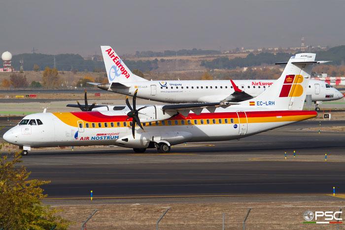 EC-LRH ATR72-212A 999 Iberia Regional @ Madrid Airport 23.11.2017 © Piti Spotter Club Verona