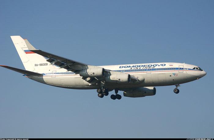 RA-96009 Domodedovo Airlines Ilyushin Il-96-300 @ Aeroporto di Verona © Piti Spotter Club Verona