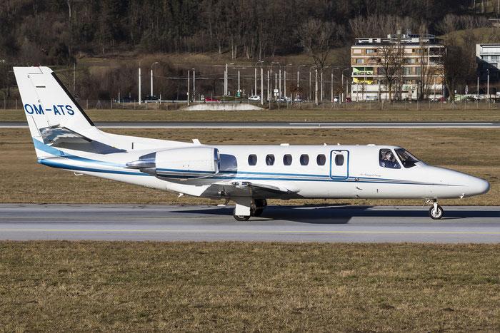 OM-ATS Ce550 Bravo 550-0865 Air-Transport Europe @ Innsbruck Airport 29.12.2015 © Piti Spotter Club Verona