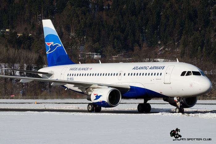 OY-RCG A319-115 5079 Atlantic Airways (Faroe Islands) @ Innsbruck Airport 28.01.2017 © Piti Spotter Club Verona
