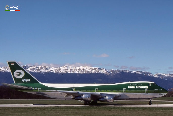 YI-AGO B747-270C 21181/289 Iraqi Airways © 2018 courtesy of Marco Ceschi - Piti Spotter Club Verona