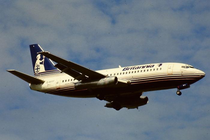 G-AWSY  B737-204  20236/166  Britannia Airways  @ Aeroporto di Verona © Piti Spotter Club Verona