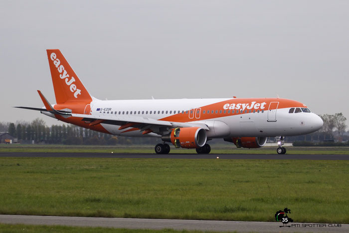 G-EZOR A320-214 6675 EasyJet Airline @ Amsterdam Airport 24.10.2015  © Piti Spotter Club Verona