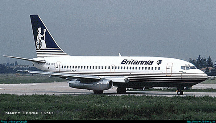 G-AXNB  B737-204C  20389/251  Britannia Airways  @ Aeroporto di Verona © Piti Spotter Club Verona