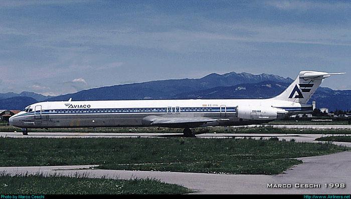 EC-FIG  MD-88  53195/1929  Aviaco - Aviación y Comercio  @ Aeroporto di Verona © Piti Spotter Club Verona