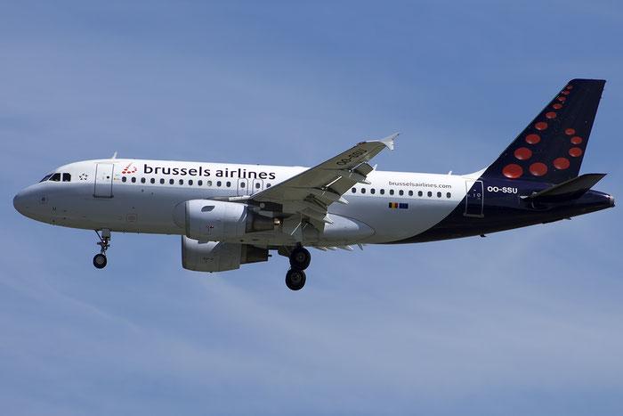 OO-SSU A319-111 2230 Brussels Airlines @ Venice Airport 20.07.2014 © Piti Spotter Club Verona